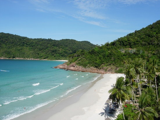 Pulau Redang, Malasia: View of beach from hillside room