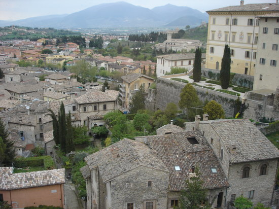 Spoleto, İtalya: View from Room
