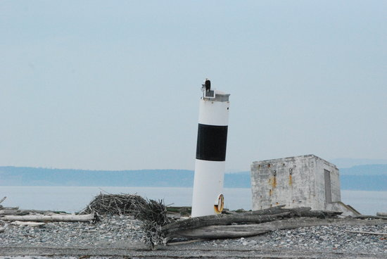 Port Townsend, : Smith Island with the eagle on top of the lighthouse!