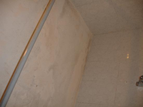 Hostal Villar: shower and ceiling