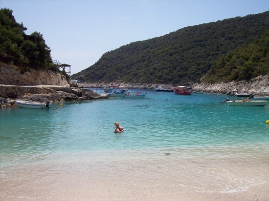 Argassi, Greece: that black blob is me believe it or not !