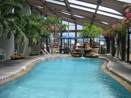 Indoor pool picture of sun viking lodge daytona beach for Hotels with indoor pools in florida