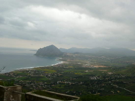 Erice, Italy: View of Mt. Colfano