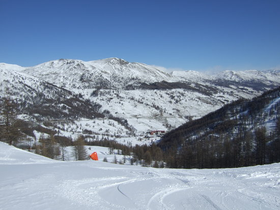 Veiw looking down from Sestriere to Borgatta. Lovely Day!