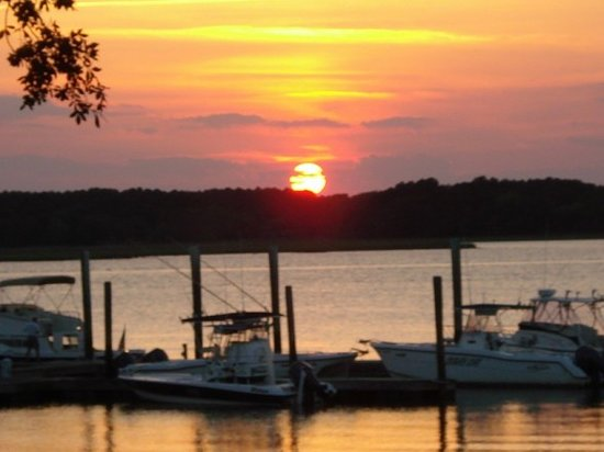 Hilton Head, Carolina del Sud: sunset at The Boathouse