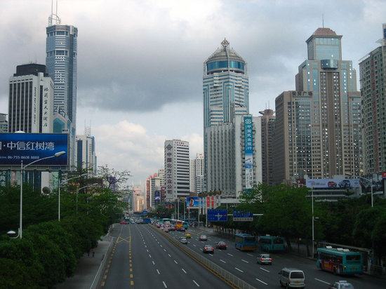 Shenzhen, Cina: Shen Nan Road Huaqiang Bei area