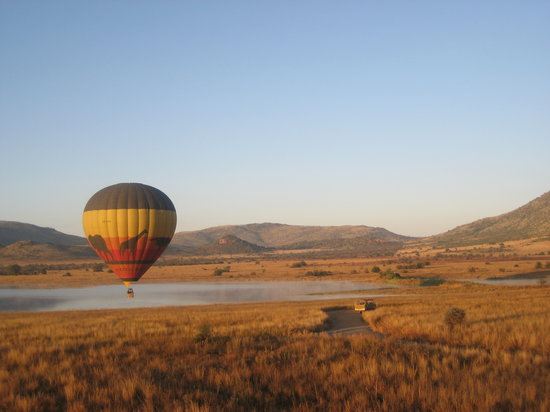 Pilanesberg National Park, South Africa: hot air ballooning