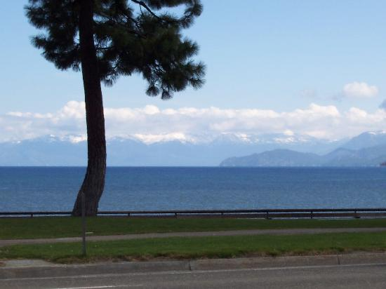 Campground by the Lake: A view of the lake accross the street from the park