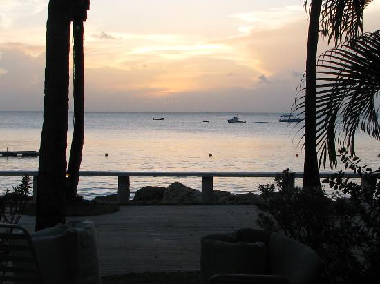 Cobblers Cove: Sunset view from Room 1