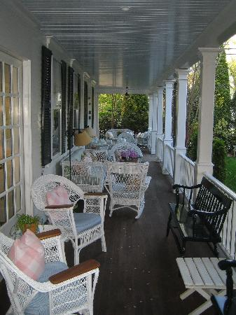 The porch at the Hob Knob