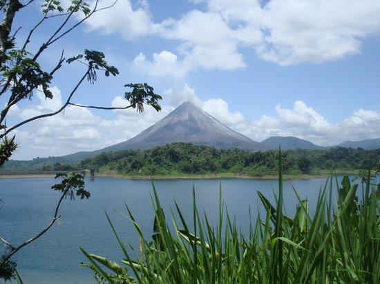 ----, -: Arenal volcano and lake, Costa Rica