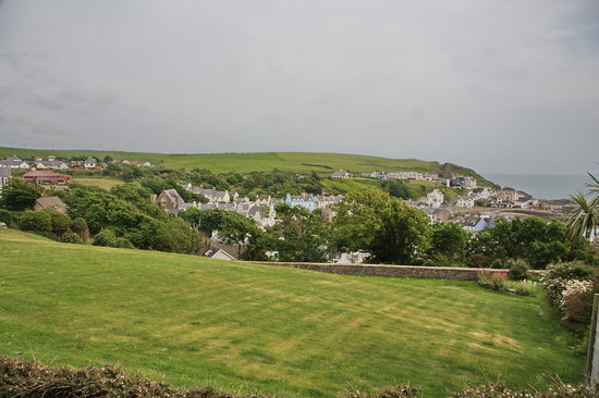 Portpatrick, UK: View from terrace