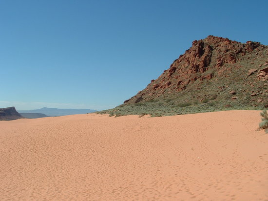 St George, UT: Sand dunes at Snow Canyon