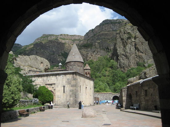 Yerevan, Armenia: Entrance to the fortified compound