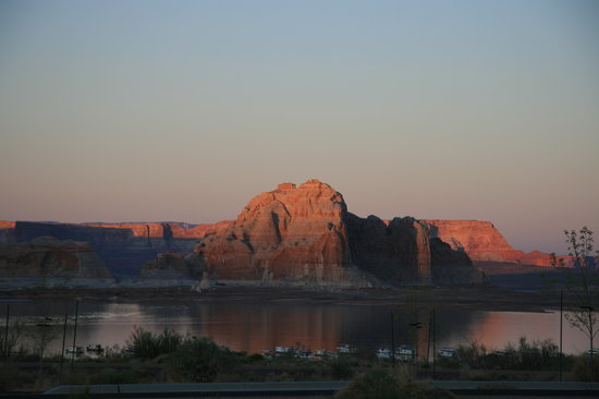 Wahweap Campground: View of Lake Powell from Wahweap RV Park