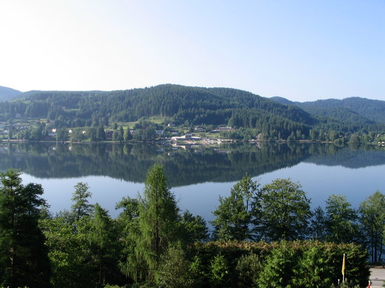 Gerardmer, France: View from the hotel bedroom