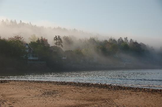 Lighthouse Inn: Fog Rolling onto the beach