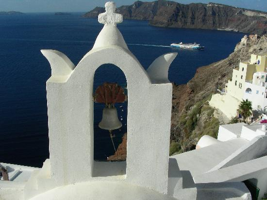 Overlooking the Aegean Sea from the Cliffs of Oia