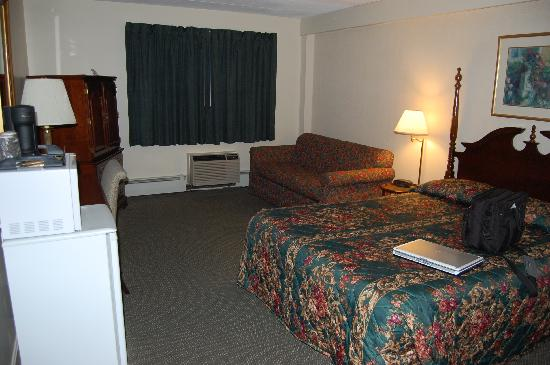 Econo Lodge Inn & Suites Airport: The first sleeping area, as seen from the entry