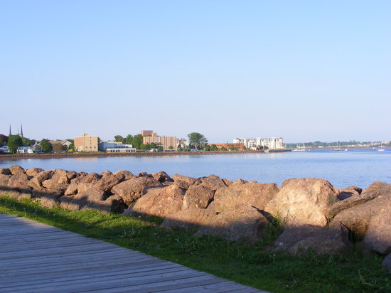 Charlottetown, Canada : Picture of town from boardwalk. 