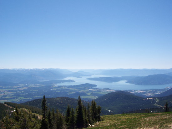 Sandpoint, ID: Schweitzer - view from the top