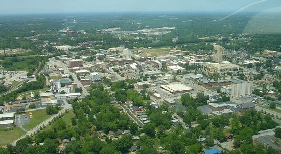 Spartanburg from the air - May, 2008