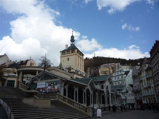 Karlovy Vary, Czech Republic: Mill colonnade