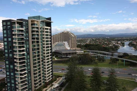 Broadbeach, Australia: Room 1401 view of Conrad Jupiters