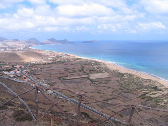 Porto Santo Island, Portugal : View to the beach
