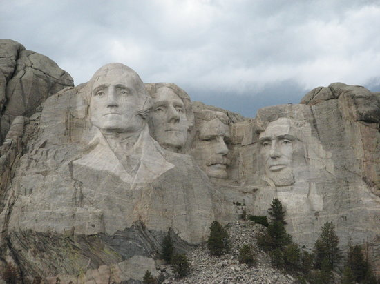 Keystone, SD: Each head on Mt. Rushmore is as tall as a six-story building.
