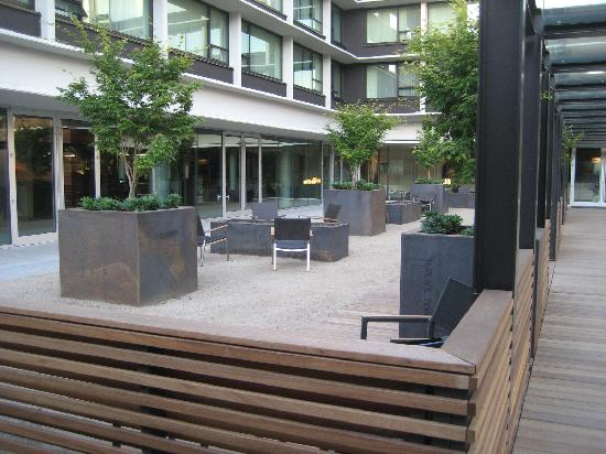 hotel modera - courtyard and fire pits