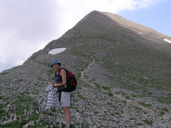 Kardamili, Greece: Approaching the peak: 2404 m
