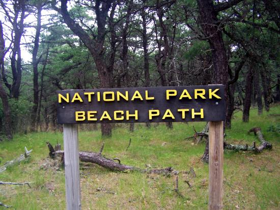 North Of Highland Camping Area: Sign that was at the beginning of the path - close to our campsite site.