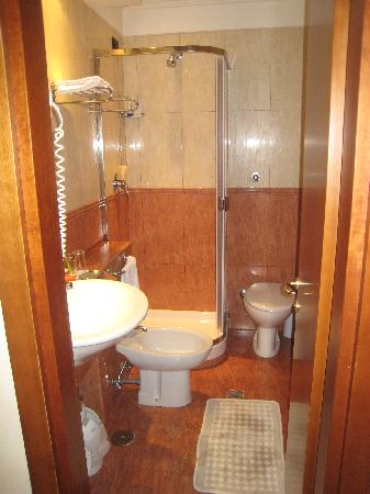The Very Small But Very Clean Bathroom Picture Of Hotel In Parione Rome