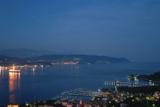 Bay of La Spezia viewed from Le Ville Relais hotel