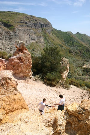 Lipari, Italie : Kaolin mine and walks
