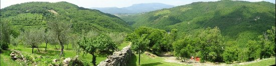 Gubbio, Italy: Looking down the valley from the property