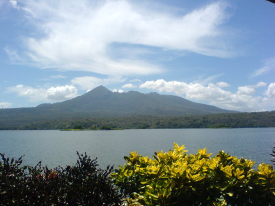 Mombacho volcano from little island of Granada