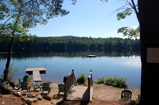 Bethel, ME: View of Songo Pond from Lake House