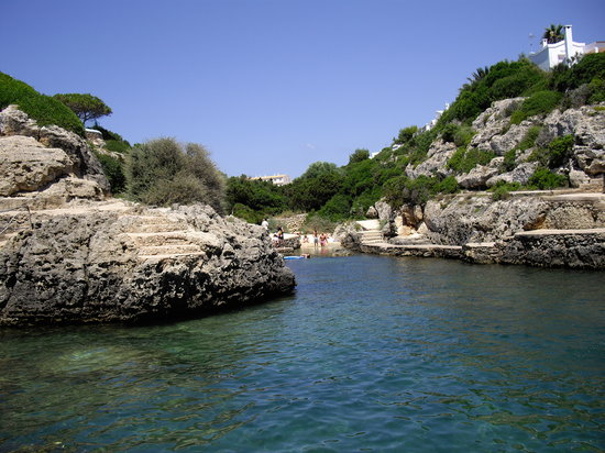 Ciudadella, Spain: Cove at the back of Los Lentiscos