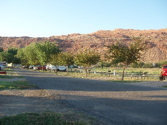 Portal RV Resort / Campground: view towards front of rv park