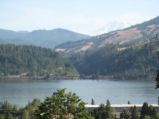 Hood River BnB: View form Mountain room