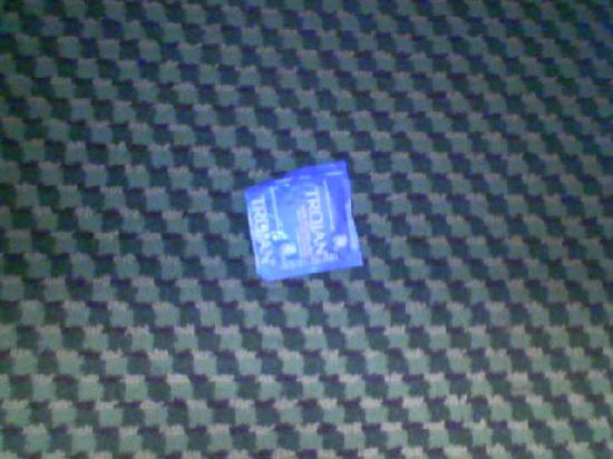 Sleep Inn: this is the condom that fell off the shelf