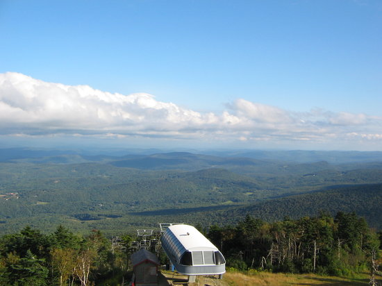 Fire tower at top of Okemo