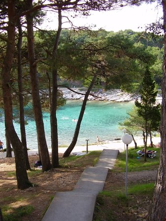 Mali Losinj, Croatia: The bay near the hotel