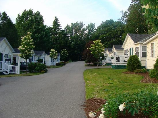 The Country Inn at Camden / Rockport: Road leading to cabins on either side