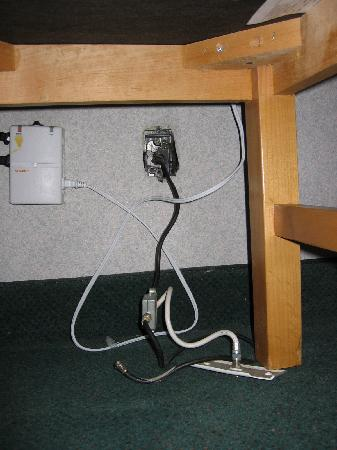 Fiesta Inn and Suites: Cable Coming Out of the Wall