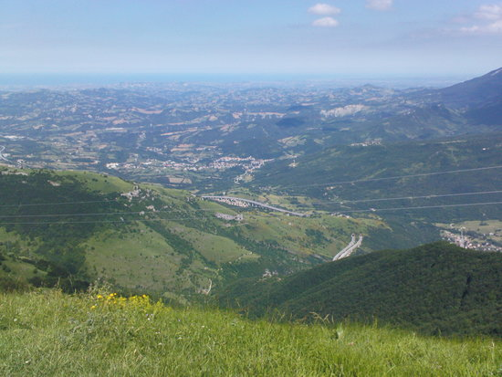 Giulianova, talya: panorama from gran sasso,national park