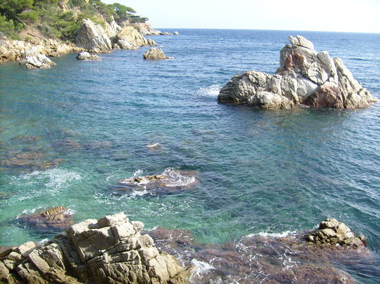 Lloret de Mar, : Clear waters