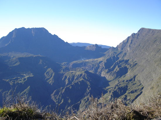 Insel La Réunion: View from Maido of Mafate cirque